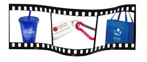 Promotional products branded with your logo and message