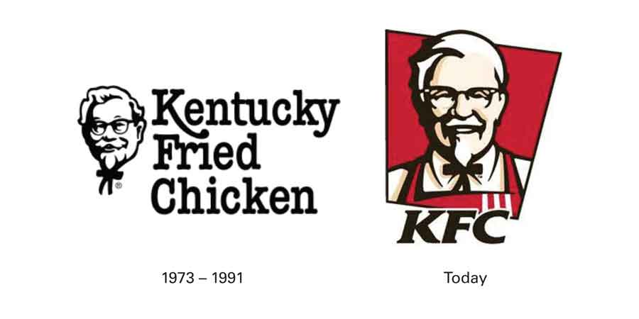 Kentucky Fried Chicken logo updates