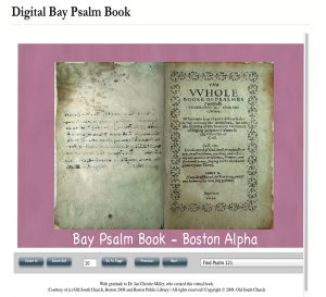 Digital Bay Psalm Book