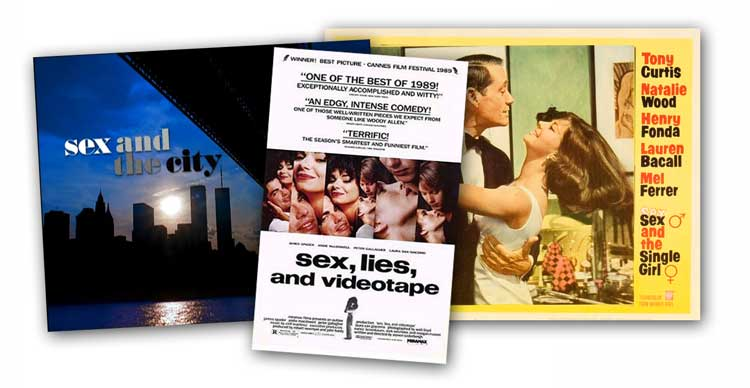Movie logos with the word sex in the title
