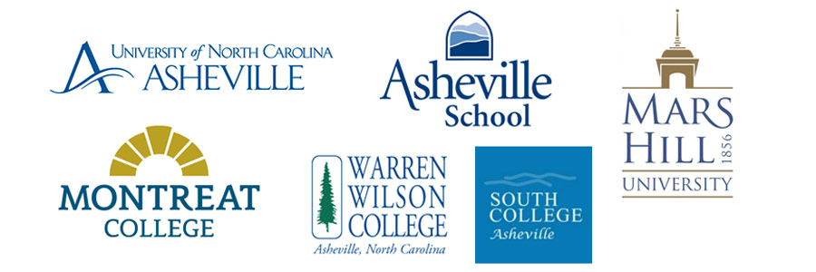 Asheville schools that brand with blue