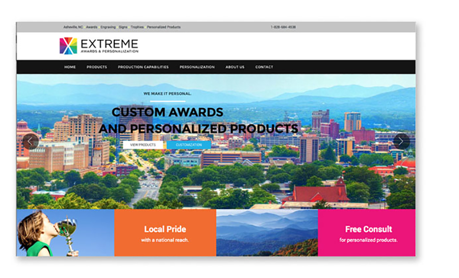 Extreme Awards and Personalization website