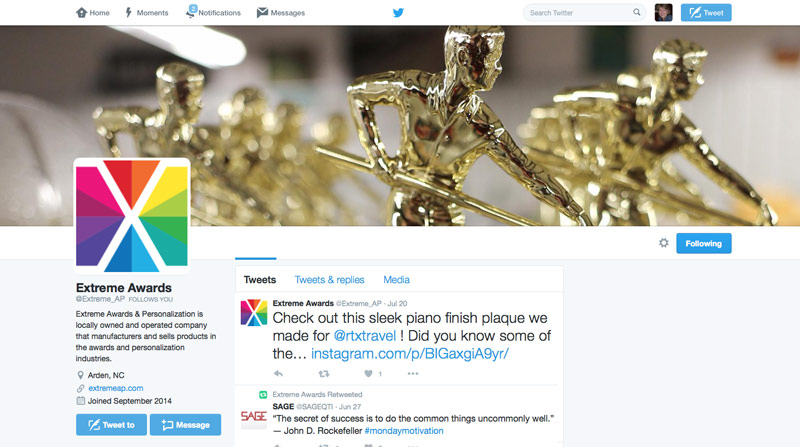 Extreme Awards & Personalization on Twitter