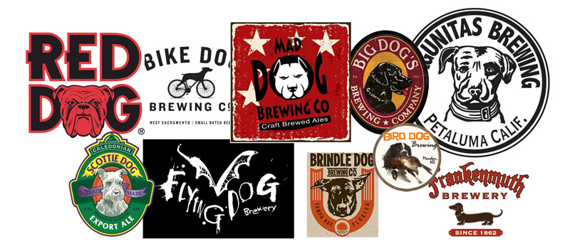 Brewery and Beers with Dog Logos