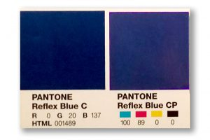 Reflex Blue Swatch v. Process