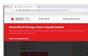 Severe Blood Shortage