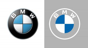 BMW logo before and after