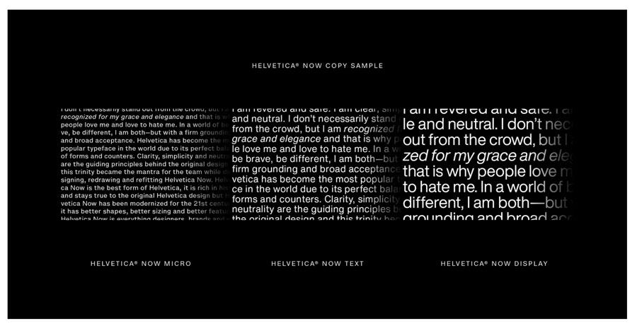 Monotype's Helvetica Now
