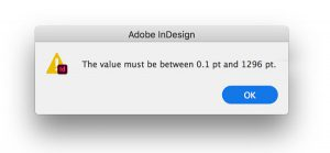 Type size limits in InDesign